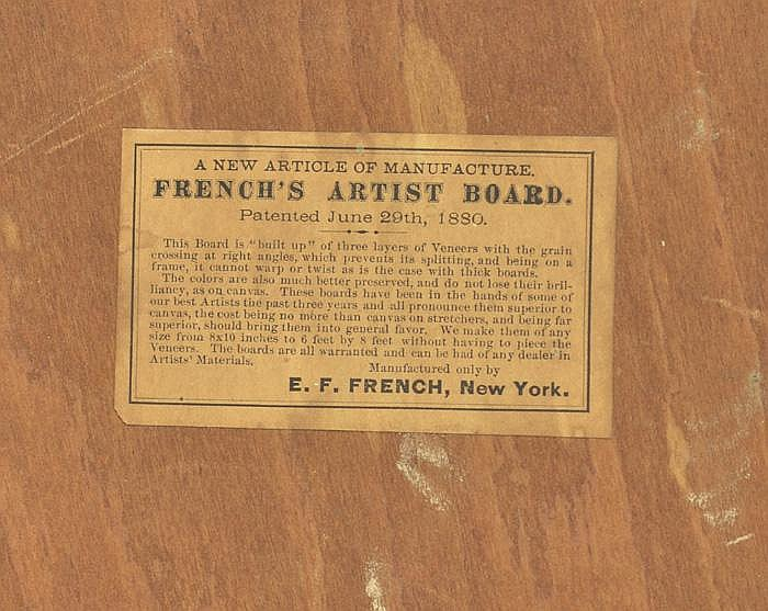 GEORGE INNESS OIL ON PANEL (American, 1825-1894)