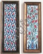 TWO FRAMED TURKISH IZNIK TILE SETS, Ottoman Empire