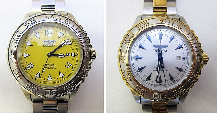 TWO INVICTA MEN'S PRO DIVER COLLECTION AUTOMATIC
