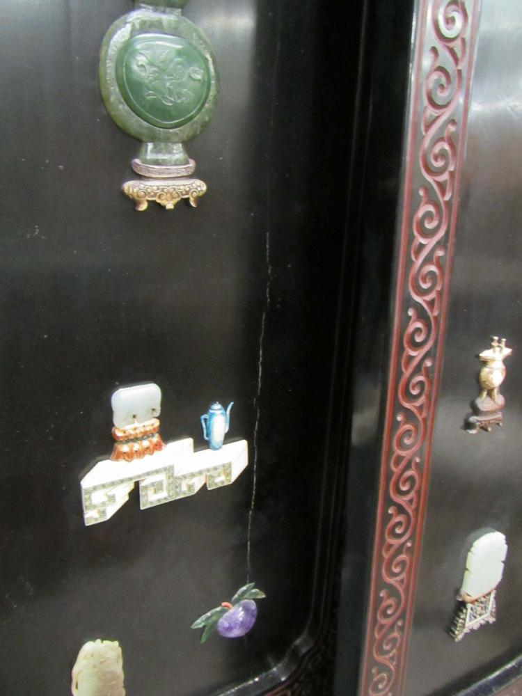 CHINESE SIX-PANEL MING STYLE FLOOR SCREEN, each bl