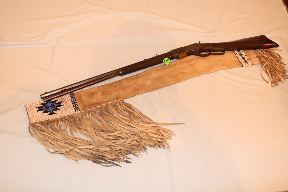 Beaded Rifle Case & 1873 32 WCF