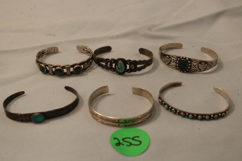 (6) Sterling Bracelets