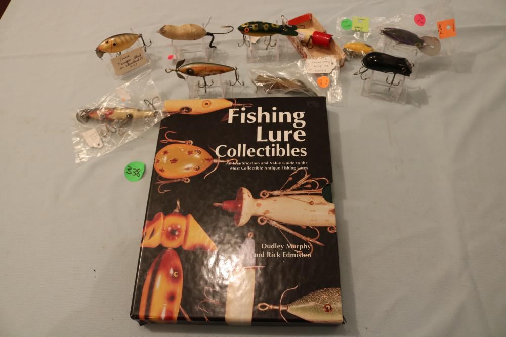 10 Older Lures and Lure Collecting Book