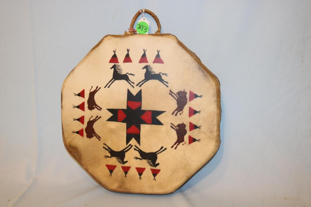 Rare Sioux Painted Drum