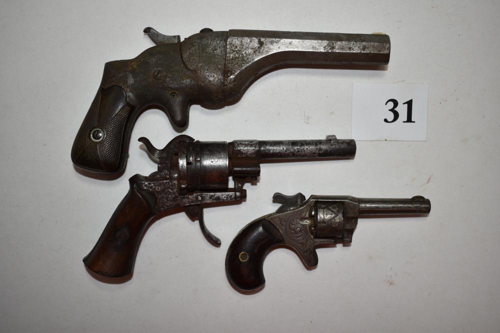 (3) Antique Pistol/Revolvers