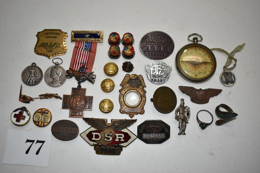 Cuba War and Other Misc. Vintage Pins