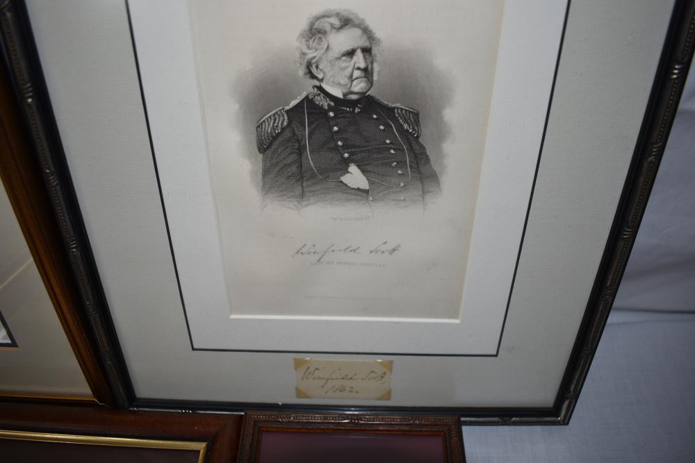(6) Framed Items from Civil War Era