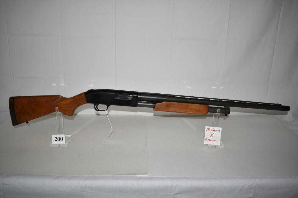 (X) Mossberg Model 500A, 12 ga. Pump Shotgun