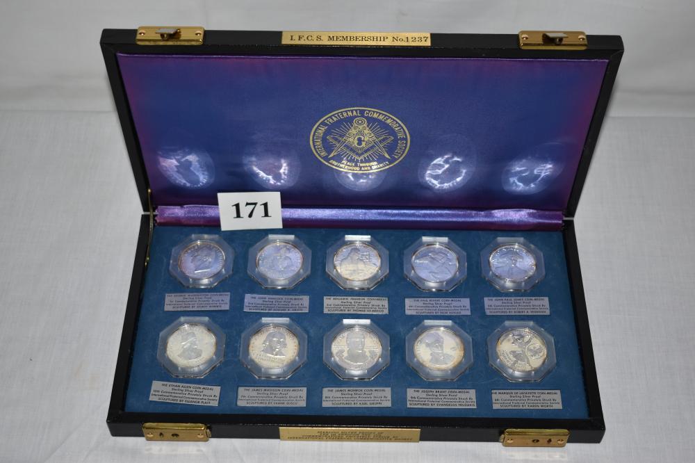 Masonic Commemorative Sterling Silver Proof Set