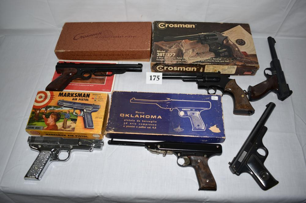 (6) Vintage Air Pistols, Crossman