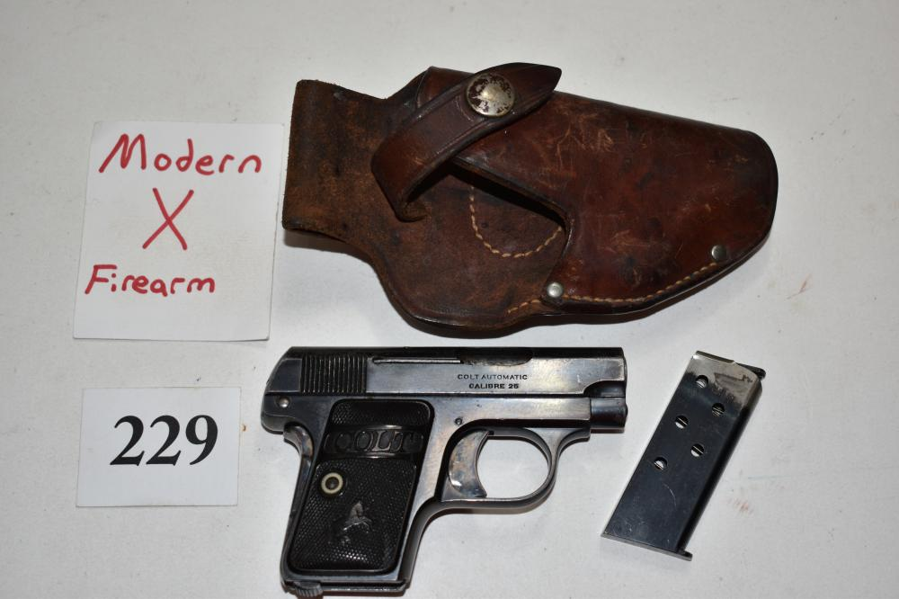 (X) Colt M1908 Pocket .25 acp Pistol
