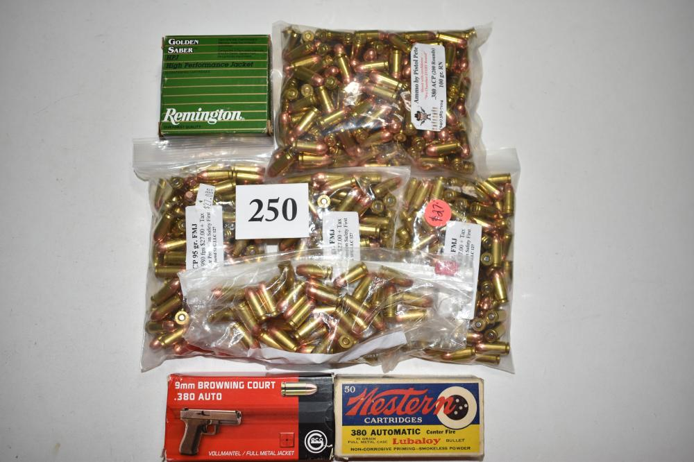 (663) rounds of .380 acp, 25 rounds HP Golden Saber