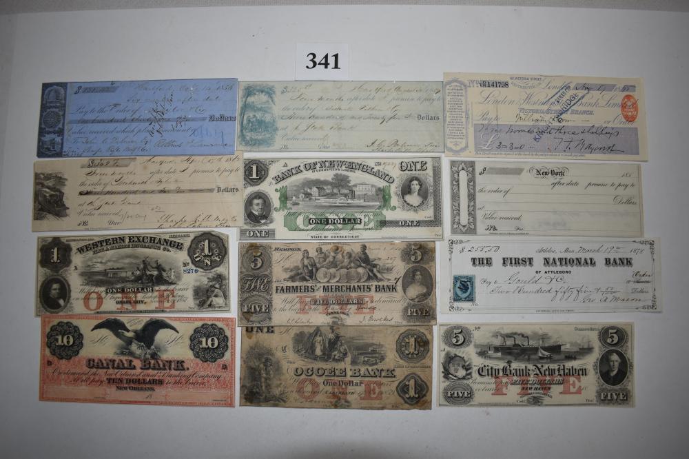 (12) Antique 1800's Paper Money