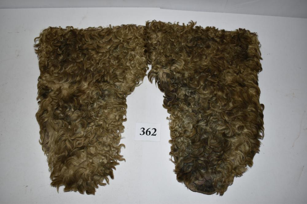Antique Fur Buffalo Gloves