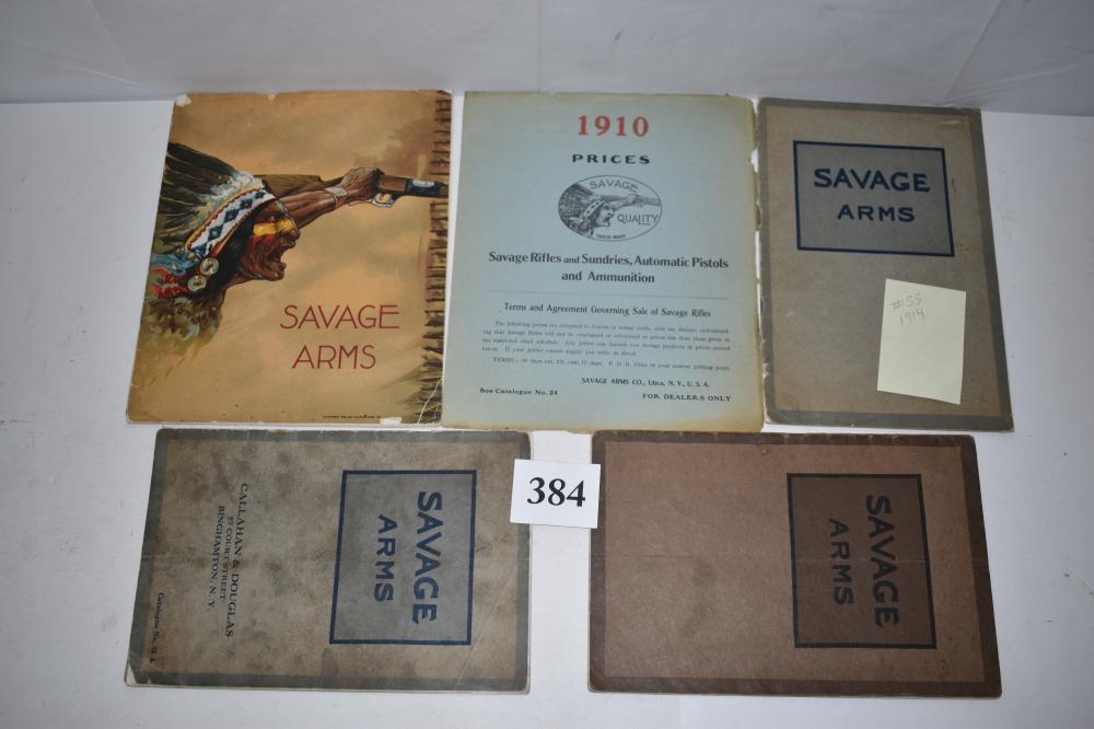 (4) Savage Arms Catalogs, 1910-1915