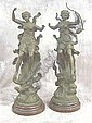 RANCOULET, Ernest (19thC-20thC) ~ PAIR OF SPELTER, Ernest Rancoulet, Click for value