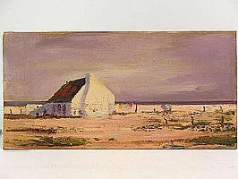 "Peter Daniel VAN BLOMMESTEIN (20thC) OIL ON BOARD ~ ""ANCHOR BAY"", 30 x 60cms"