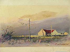 "Peter Daniel VAN BLOMMESTEIN (20thC) OIL ON BOARD ~ ""THE STORM"", 30 x 52cms"