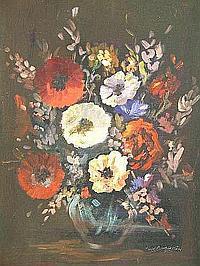 "Peter Daniel VAN BLOMMESTEIN (20thC) OIL ON BOARD ~ ""MOTHERS DAY"", 46 x 35cms"