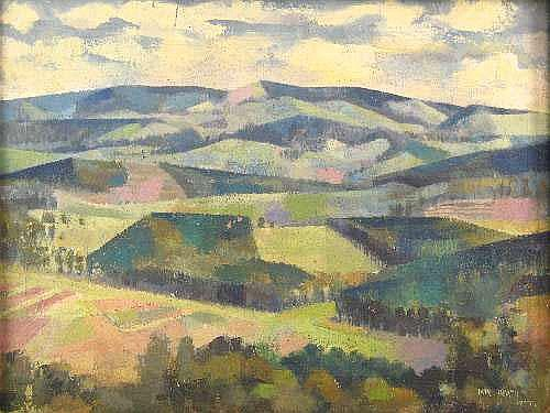 Jane Tully HEATH (1913 - 1995) OIL ON CANVAS ~