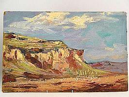 "Peter Daniel VAN BLOMMESTEIN (20thC) OIL ON BOARD ~ ""GOLDEN GATE"", 40 x 63cms"