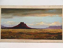 "Peter Daniel VAN BLOMMESTEIN (20thC) OIL ON BOARD ~ ""ZASTRON"", 27 x 53cms"