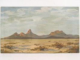 """Peter Daniel VAN BLOMMESTEIN (20thC) OIL ON BOARD ~ """"SPITZKOP, SWA"""", 45 x 76cms"""