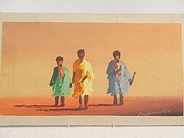 "Peter Daniel VAN BLOMMESTEIN (20thC) OIL ON BOARD ~ ""NO PLACE TO HIDE"", 24 x 46cms"
