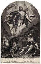 Raphael Sadeler, Hans von Aachen, Christ conquering death and evil, Hans von Aachen,