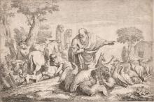 Gaetano Zompini (1700-1778) - Noah gathering animals for the Ark