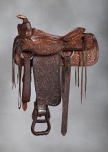 Pair of Rex Cauble Estate Saddles