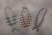 3 Squash Blossom Necklaces from Rex Cauble Estate
