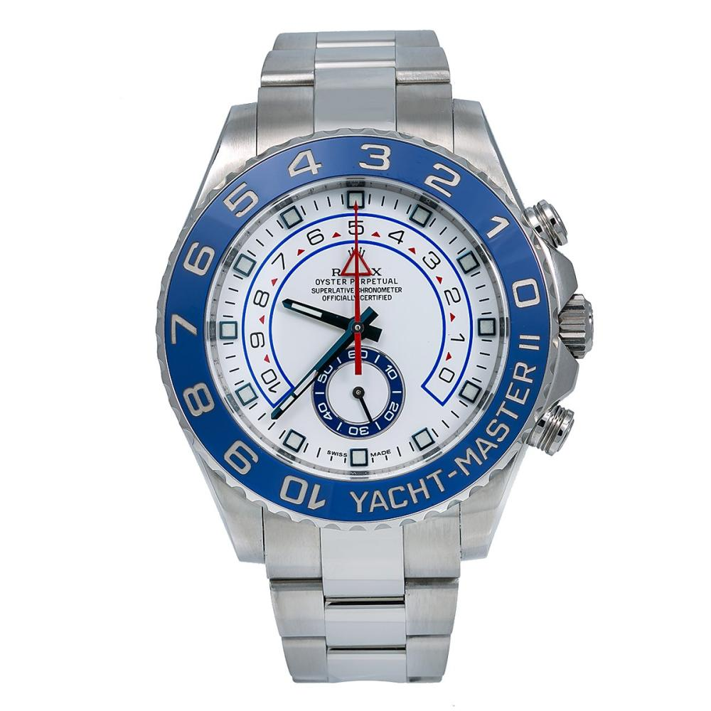 ROLEX YACHT-MASTER II 116680 44MM WHITE DIAL WITH STAINLESS STEEL BRACELET