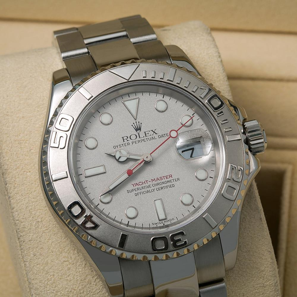 ROLEX YACHT-MASTER 40 16622 40MM SILVER DIAL WITH STAINLESS STEEL BRACELET
