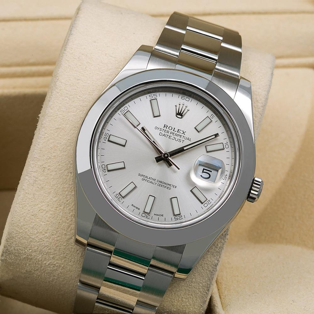 ROLEX DATEJUST II 116300 41MM SILVER STICK DIAL WITH STAINLESS STEEL BRACELET