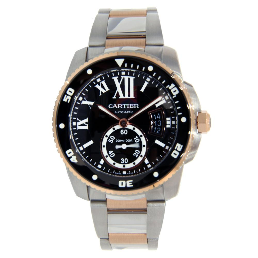 CARTIER CALIBRE TWO TONE STAINLESS STEEL & ROSE GOLD 42MM
