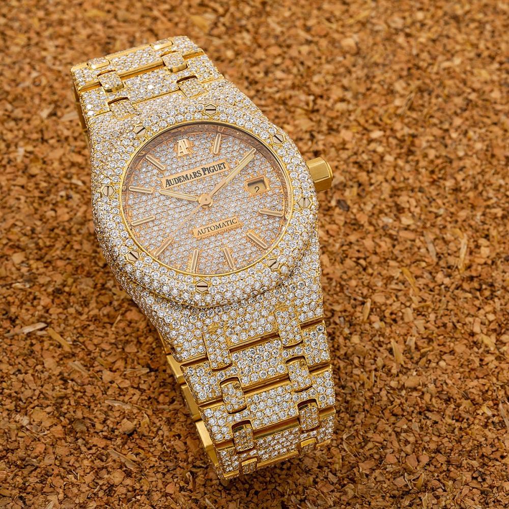 AUDEMARS PIGUET ROYAL OAK 15454BA 33MM CHAMPAGNE DIAMOND DIAL WITH 17.95 CT DIAMONDS