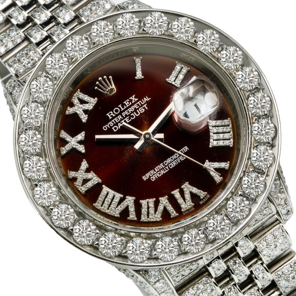 ROLEX DATEJUST 116234 36MM BRONZE DIAL WITH 15.25CT DIAMONDS
