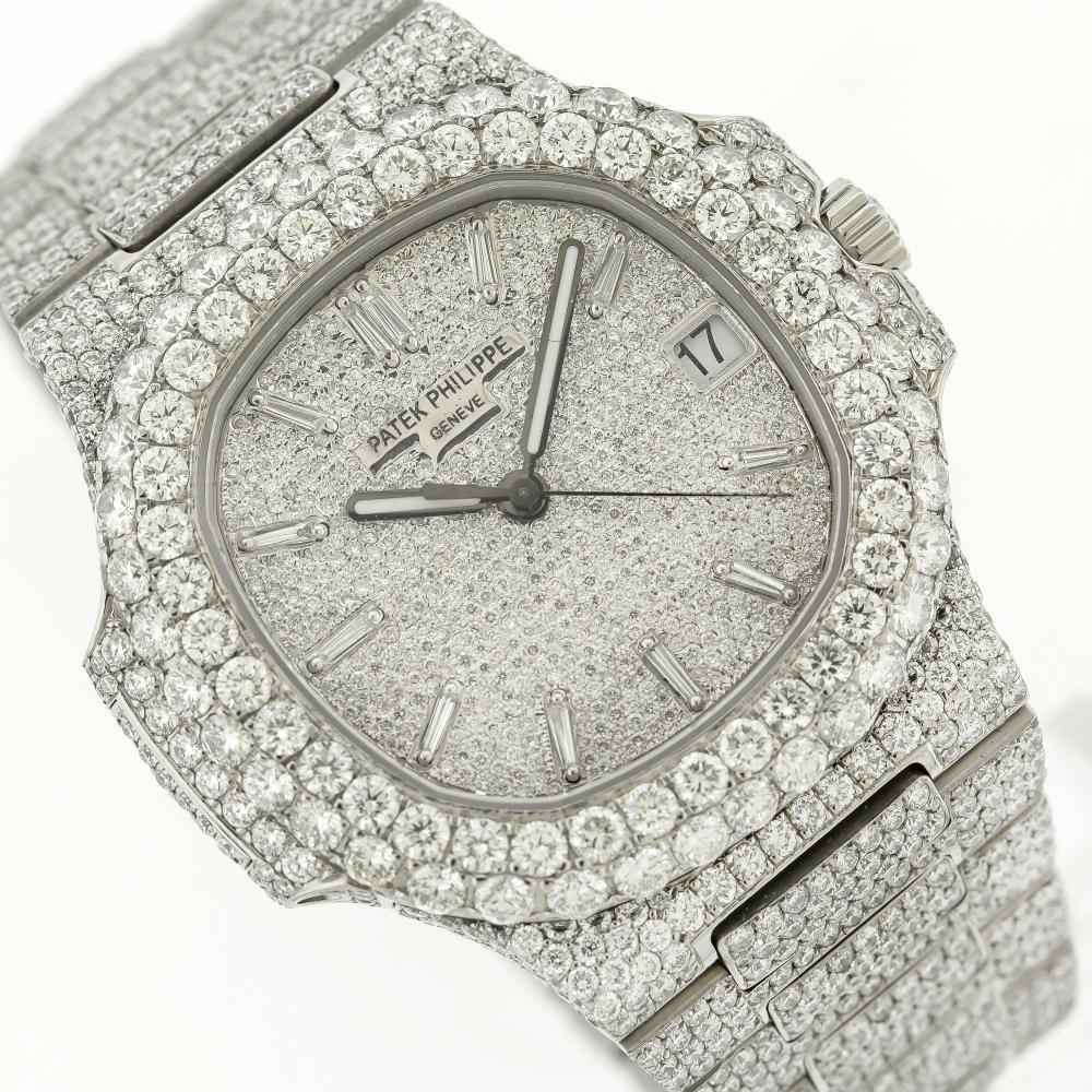 PATEK PHILIPPE NAUTILUS 5711/1A 40MM WITH 21.50CT DIAMONDS