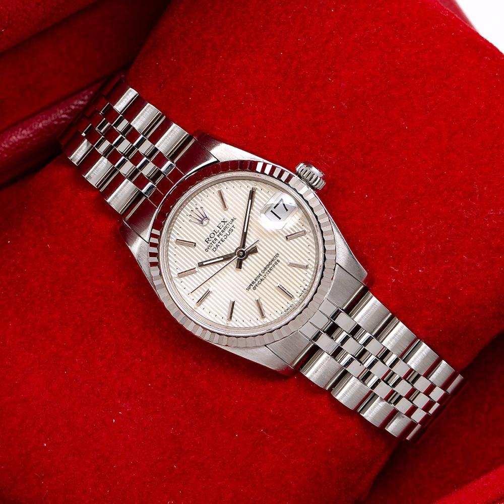 ROLEX LADY-DATEJUST 68274 31MM SILVER DIAL WITH JUBILEE STAINLESS STEEL BRACELET