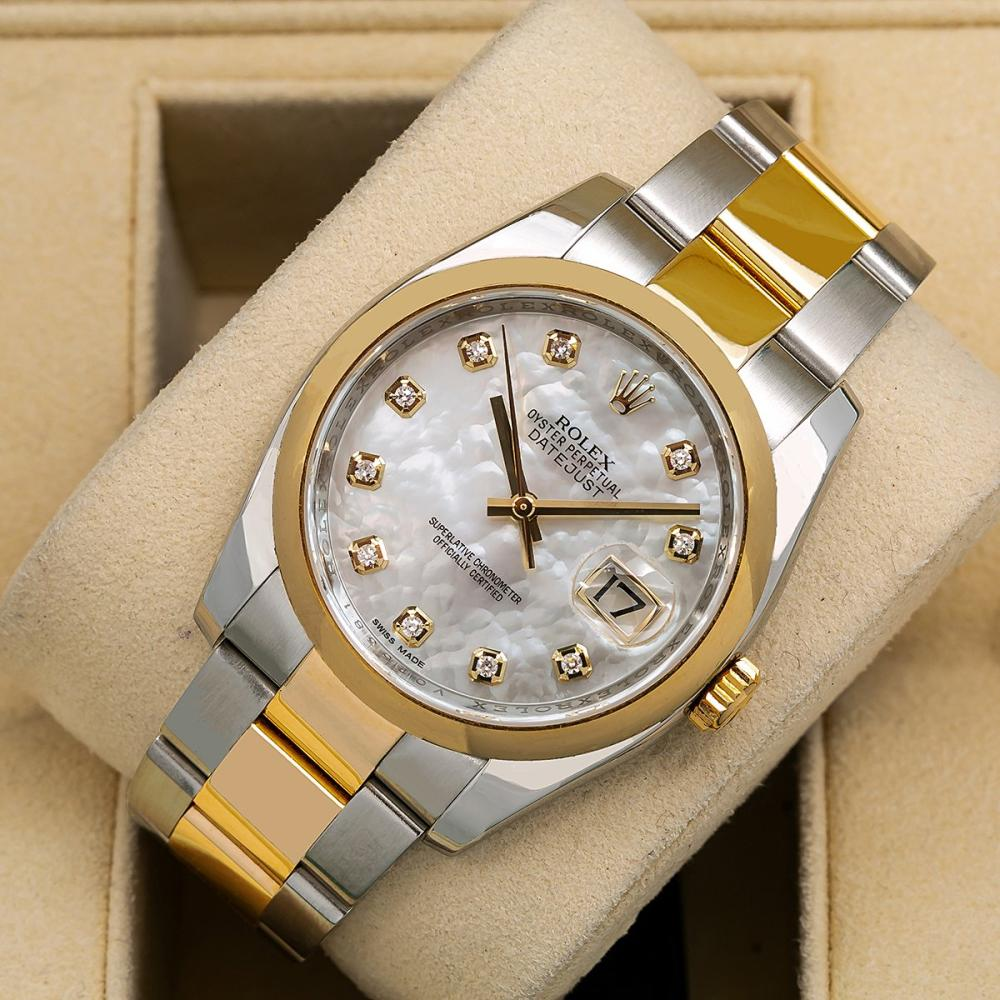 ROLEX DATEJUST 116203 36MM SILVER DIAL TWO TONE OYSTER BRACELET