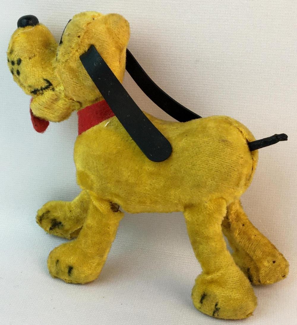 Vintage 1930's Linemar Marx Wind-up Mohair Walking Walt Disney's Pluto w/ Moving Head WORKS