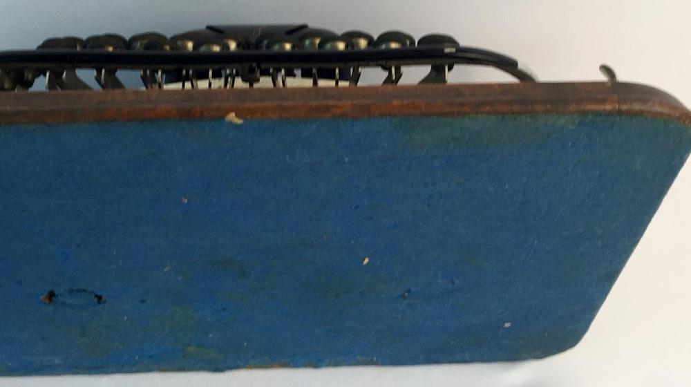 Antique 1897 Blickensderfer #7 Typewriter w/ Oak Case and Original Leather Handle