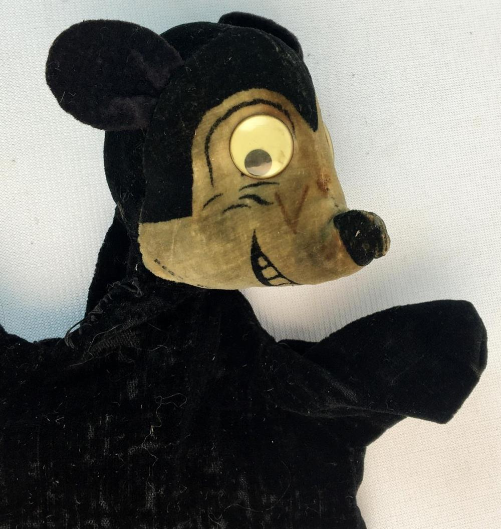 ULTRA RARE Vintage 1930's Mickey Mouse Hand Puppet by Dean's Rag Book Co.