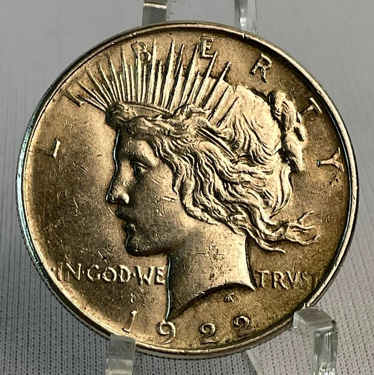 1922 US $1 Peace Silver Dollar