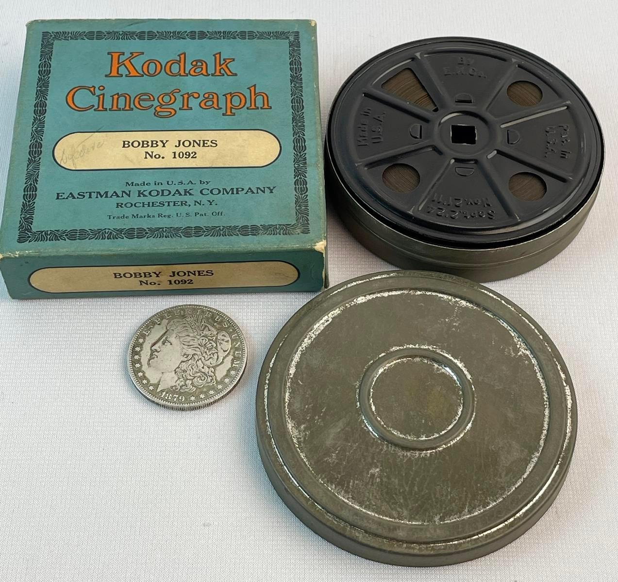 Vintage 1920's Golf Legend Bobby Jones 16MM Kodak Cinegraph Film No. 1092 w/ Original Box