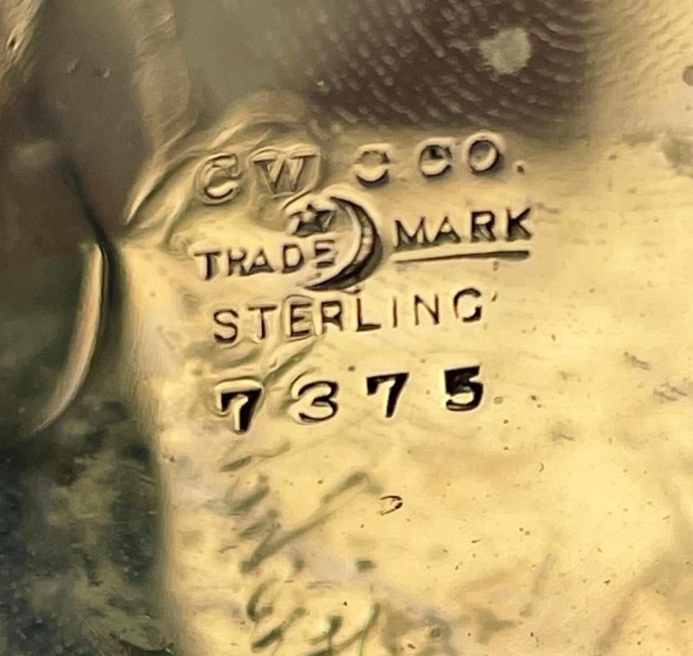 Antique c. 1900 Sterling Silver Elgin 15 Jewel Open Face Pocket Watch