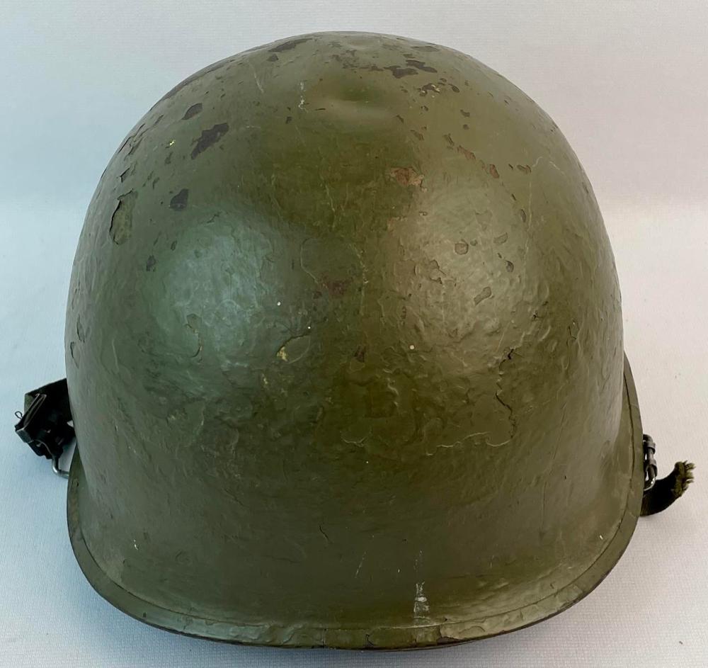 Vintage Original 1940's WWII U.S. Army M1 Combat Helmet w/ Molded Plastics Liner
