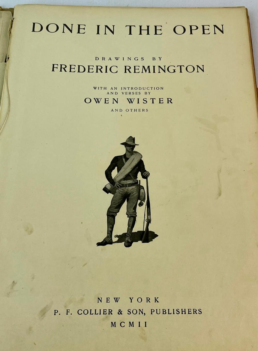 1902 Done in The Open Drawings by Frederic Remington