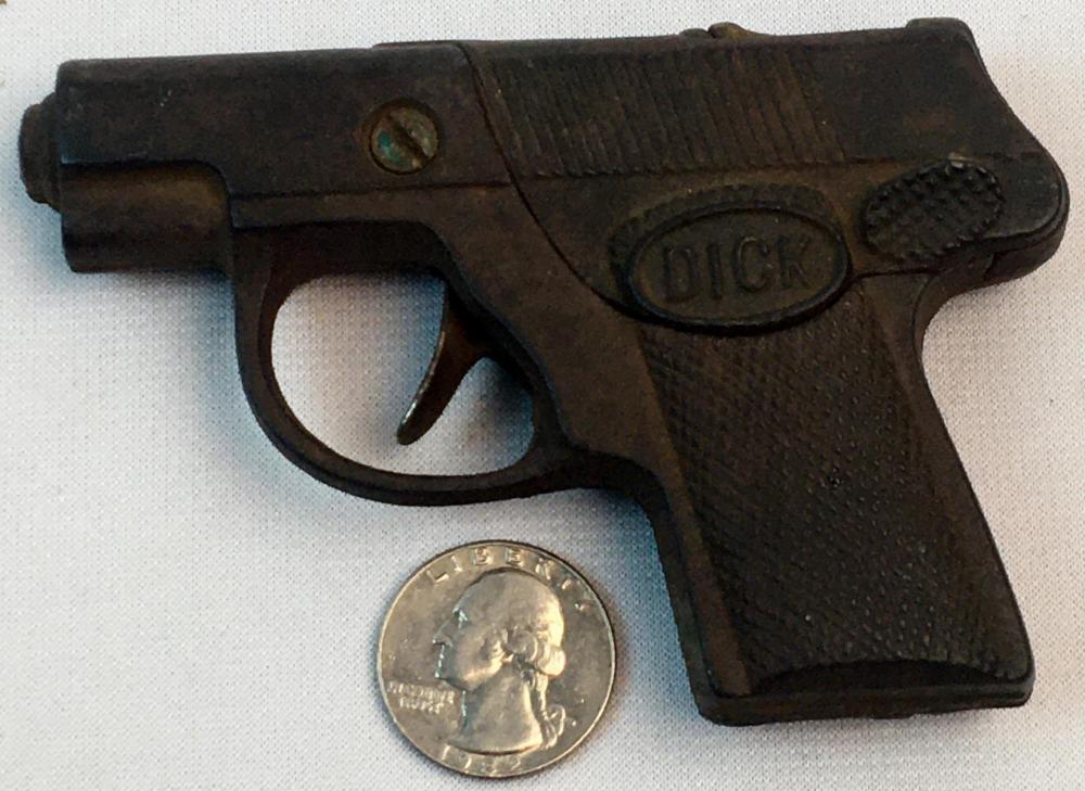 Lot - Vintage c. 1940 Hubley Dick Tracy Cast Iron Cap Gun
